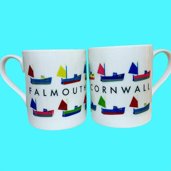 Falmouth Fishing boat mug