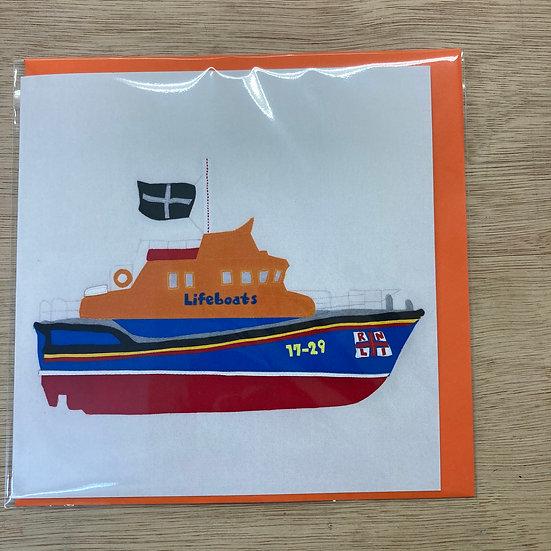 Falmouth Lifeboat Card