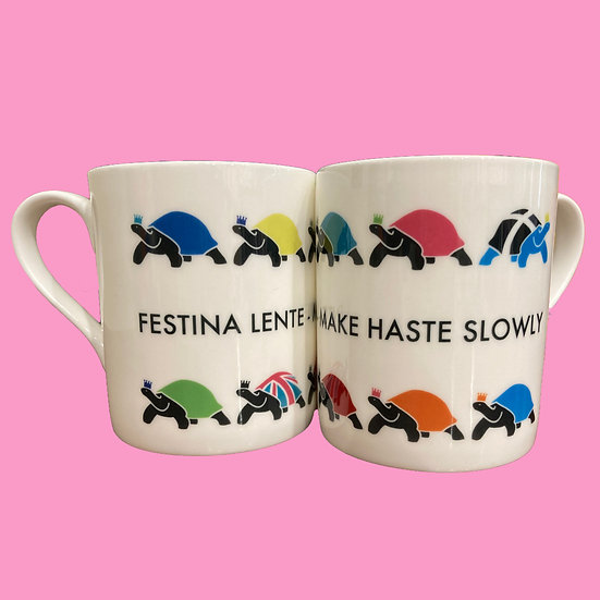 Festina Lente Tortoise mug