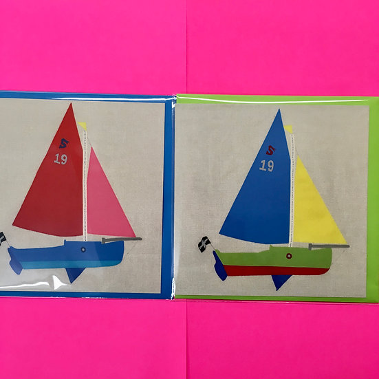 Cornish Shrimper Boat Cards