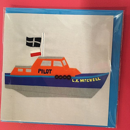 LK Mitchell Pilot Boat Falmouth card