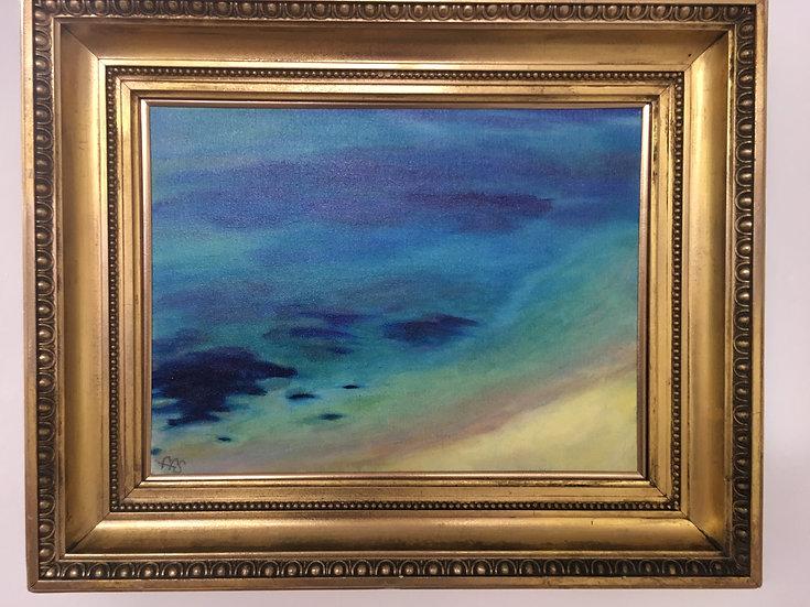 """""""Gyllyngvase Blue"""" , Oil painting"""