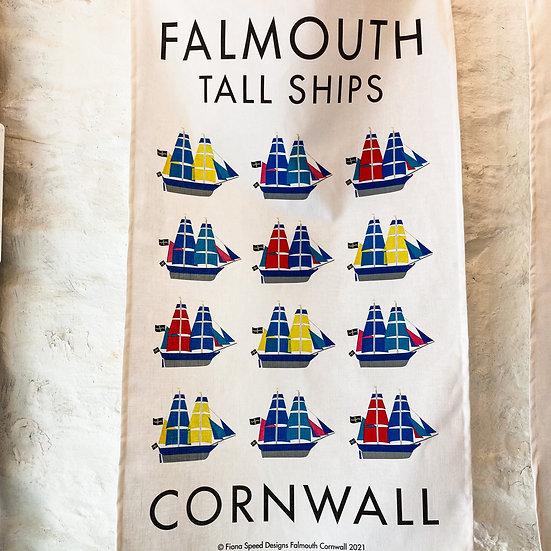 Falmouth Tall Ships Tea Towel