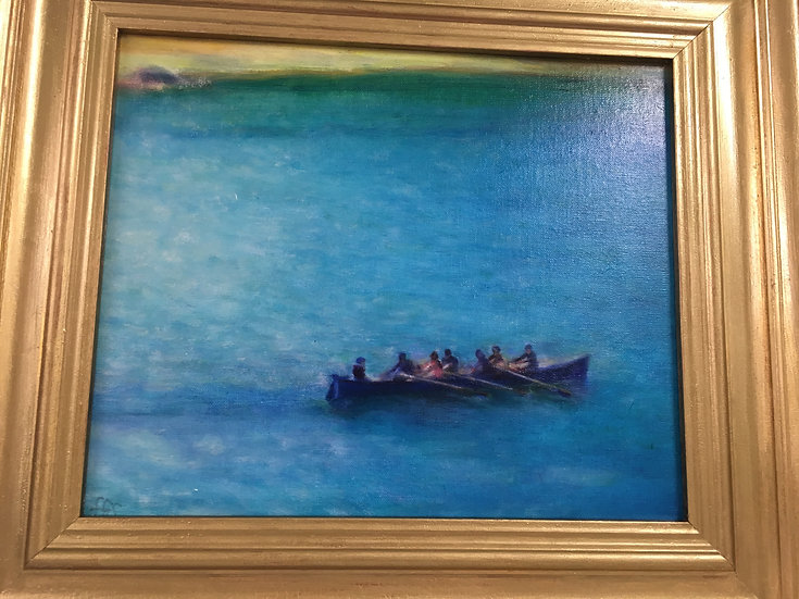 """""""Salcombe Gig"""" Oil Painting"""