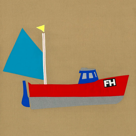 Falmouth fishing boat Red