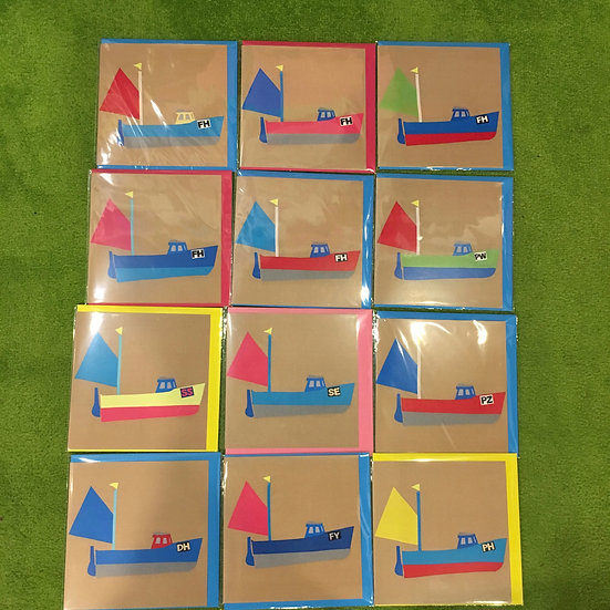 Fishing boat Cards