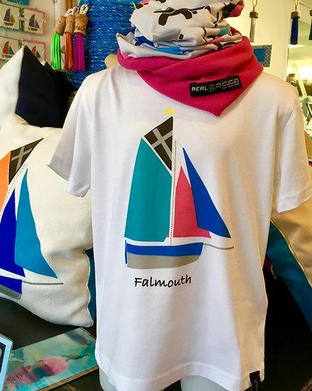 Falmouth Working Boat Kids White T-Shirt