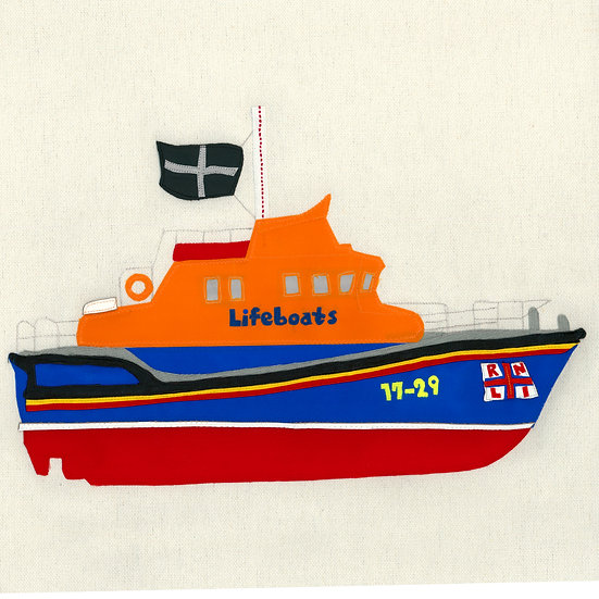Falmouth Lifeboat Giclee Print