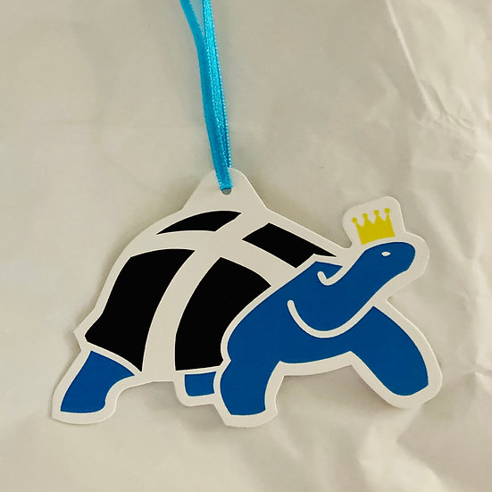 Dubby The Cornish Tortoise gift tag
