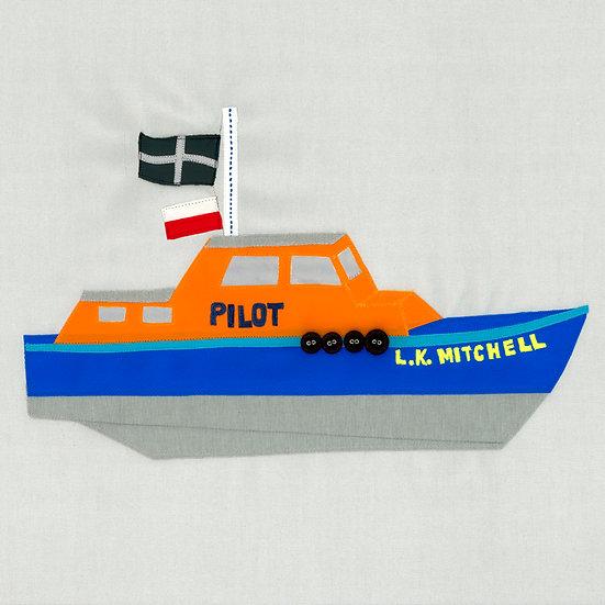 LK Mitchell Pilot Boat Print Falmouth