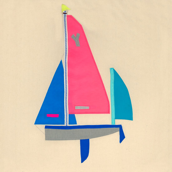 Salcombe Yawl Print Pink