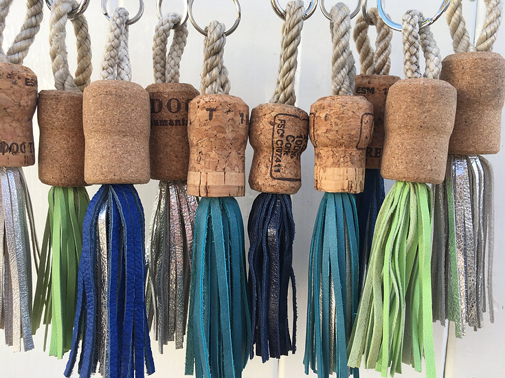 Real speed Recycled cork leather tassels