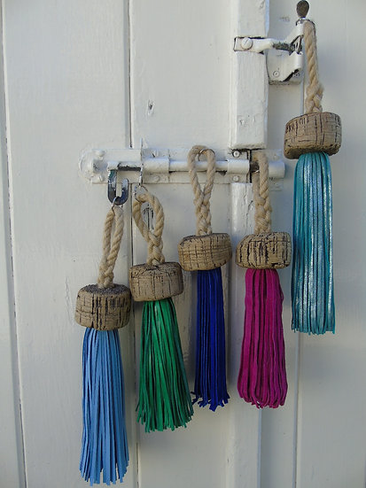 Real Speed Large Recycled cork leather tassels