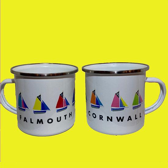 Falmouth  Enamel Boat Mug
