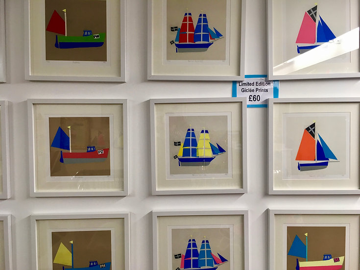 Framed limited Edition Giclée Boat Prints