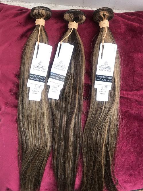 Pre-Colored Human Hair Weave colour 4/27 straight 3 bundles