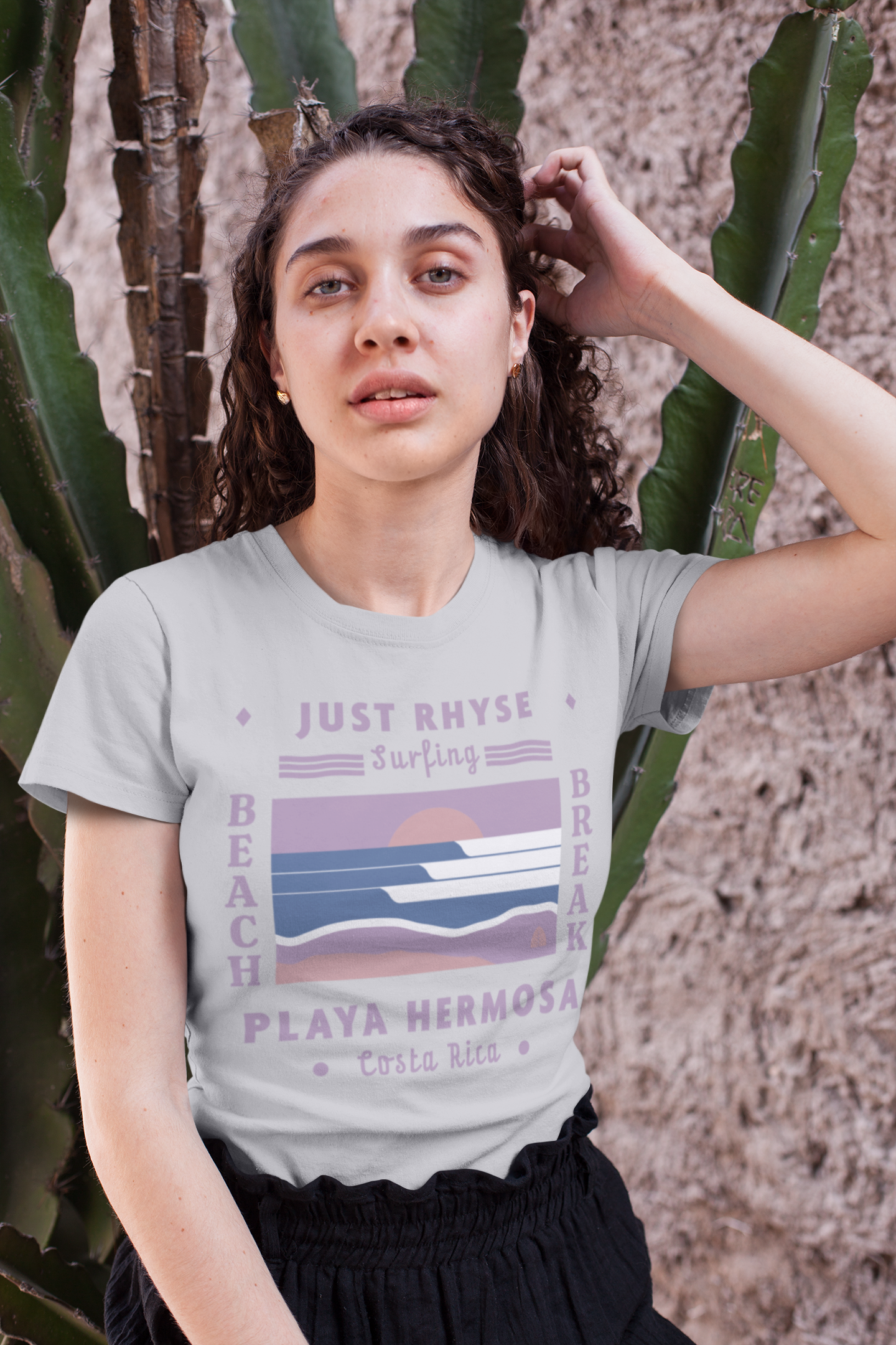tee-mockup-of-a-curly-haired-girl-sittin