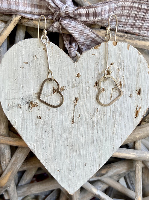 Single Silver Heart earrings