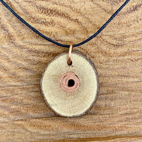 Rosewood and copper pendant - Medium (3)