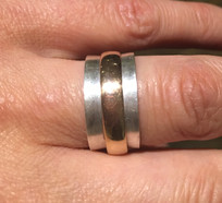 Spinner ring - Sterling silver and Rose Gold