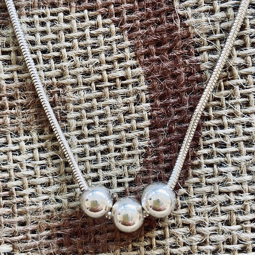 Trilogy necklace - Sterling Silver