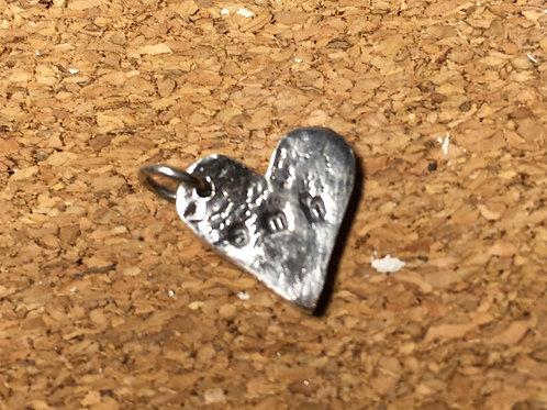 Fine Silver Heart Charm