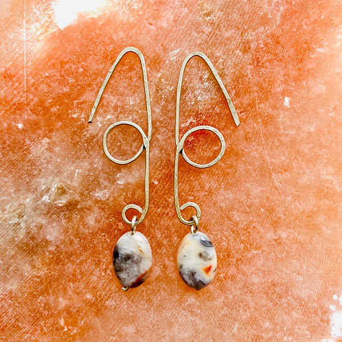 Argentum Silver & Crazy Lace Agate earrings
