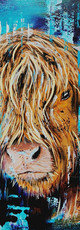 Ben Goymour highland cow oil painting
