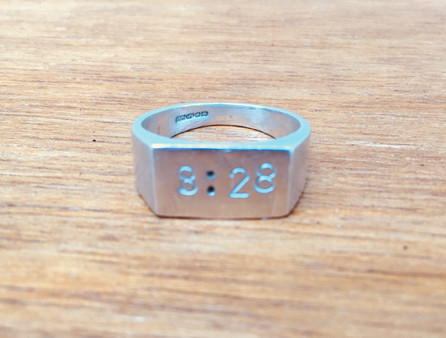 Psalm ring sterling silver
