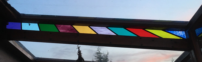 Stained glass leaded light panel