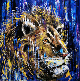 Ben Goymour - Lion Oil Painting