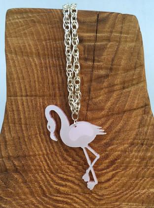 Pink shimmery flamingo