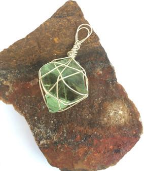Green quartz pendant