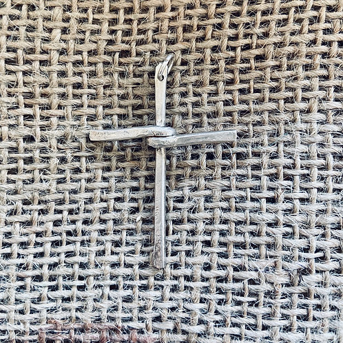 Wrapped Silver Cross pendant