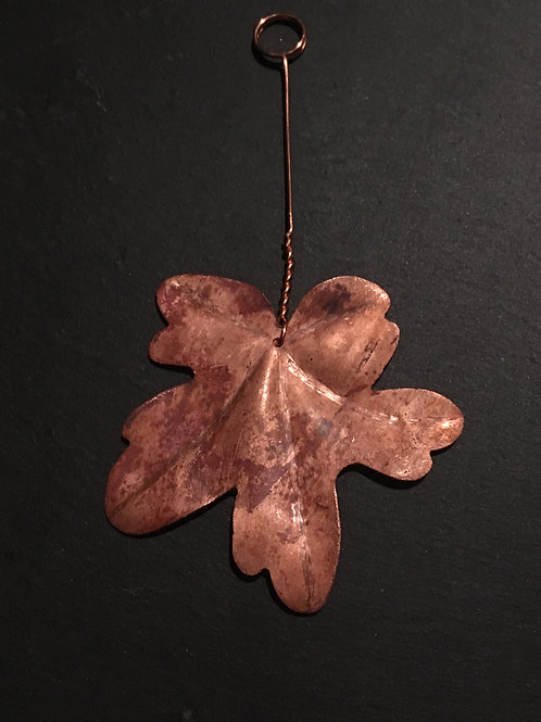 Decadent decorations -Upcycled Copper leaf: Field Maple