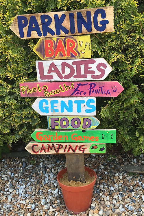 Rustic Wooden Signpost - prices from £15