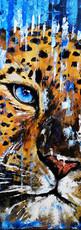 Ben Goymour - Apollo - Leopard oil painting