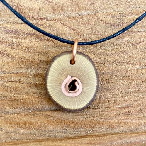 Rosewood and copper pendant - Medium (2)