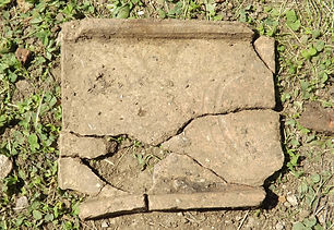 Roman roof tile with Maker's mark