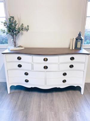 White Dove; custom finish on top