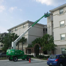 Aerial Lift for Roof Evaluation