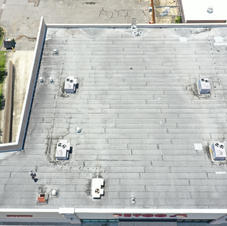 Drone Photo of Rolled Roofing