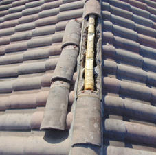 Concrete Tile at Ridge