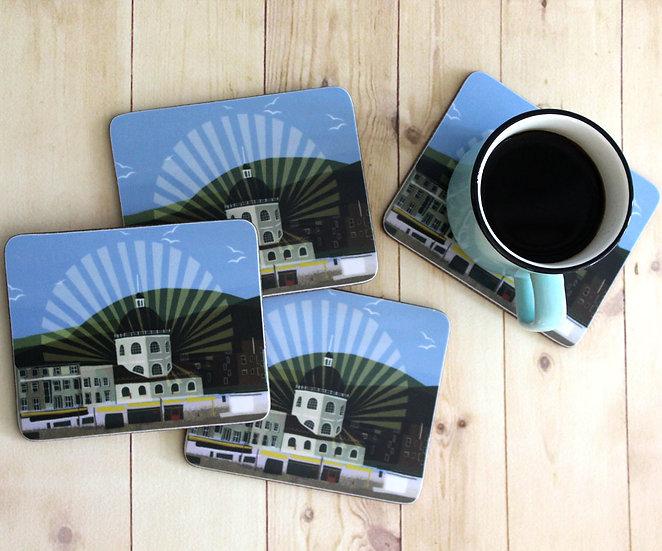 Worthing Dome Coastal Coasters set of 4