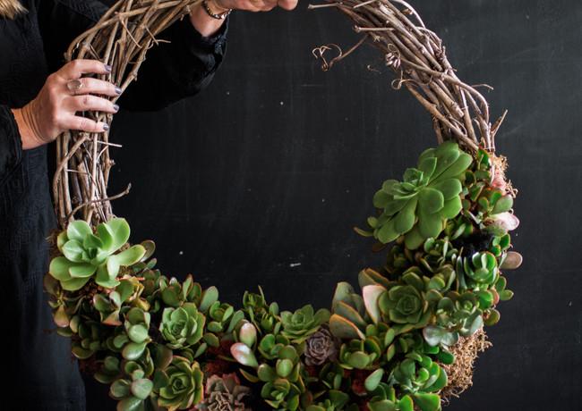 Urban Farm Girls Designer Garden Living Wreaths - Vertical Gardens - Handmade in San Franc