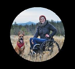 Ashley Schahfer - wheelchair - service dog
