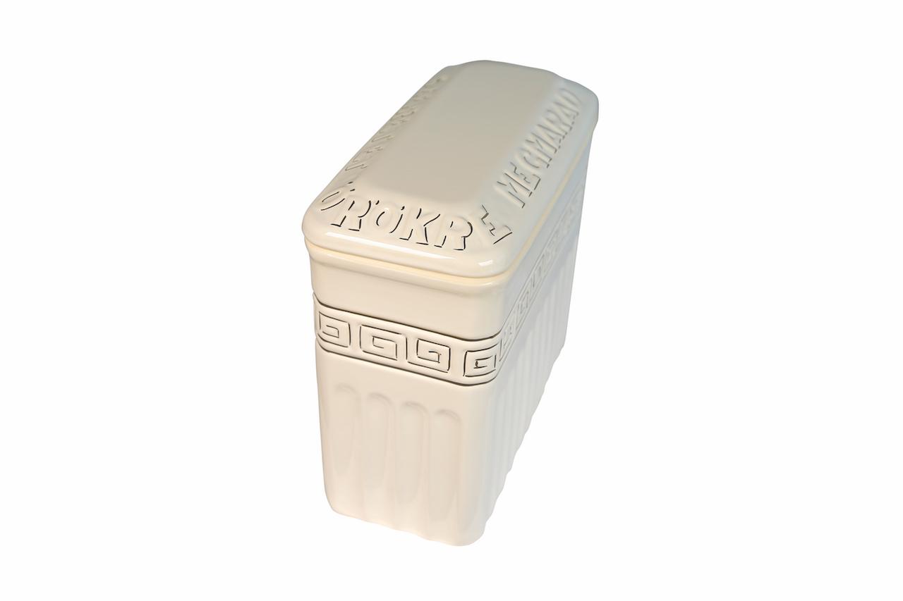 Láva Görög szögletes aranyozott urna (1181)