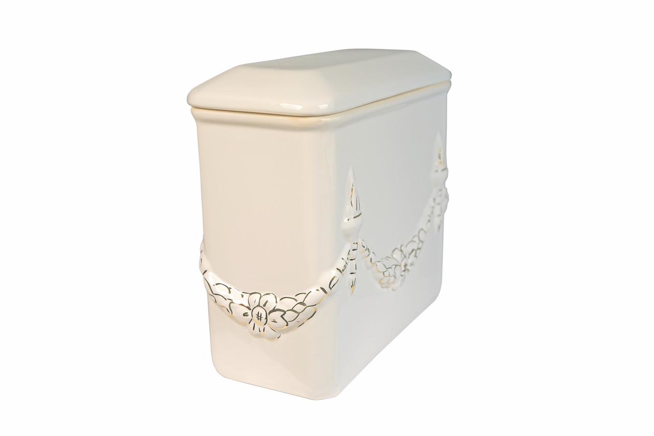 Láva Láncos szögletes aranyozott urna (1184)