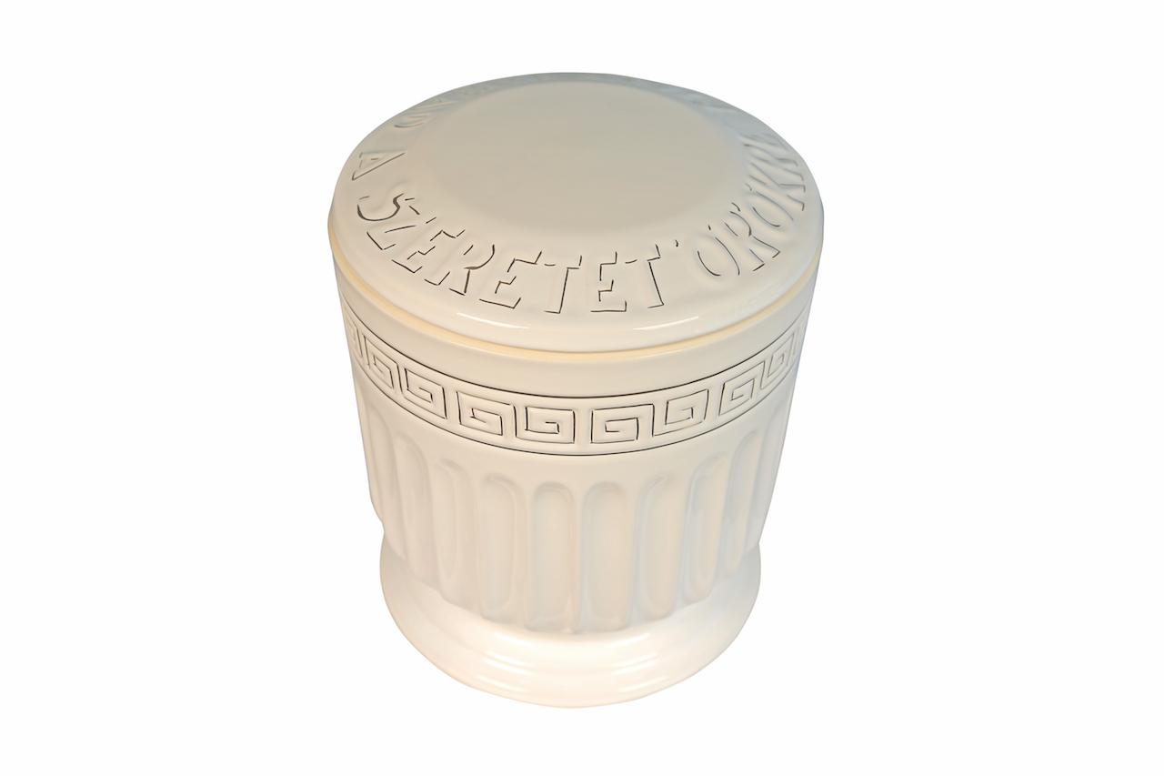 Láva Görög kerek aranyozott urna (1180)