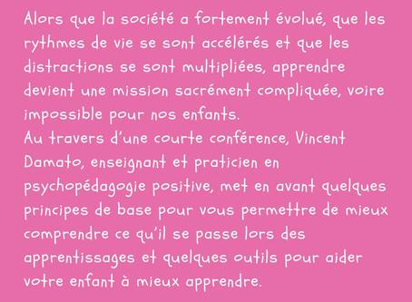 """Conférence-débat sur la Pédagogie Positive"""" à Bourgoin-Jallieu le jeudi 7 mars 2019"""